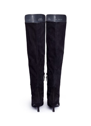 Back View - Click To Enlarge - Stuart Weitzman - 'Allways' stretch suede knee high boots