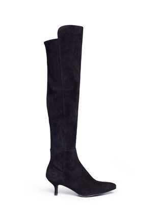 Main View - Click To Enlarge - Stuart Weitzman - 'Allways' stretch suede knee high boots