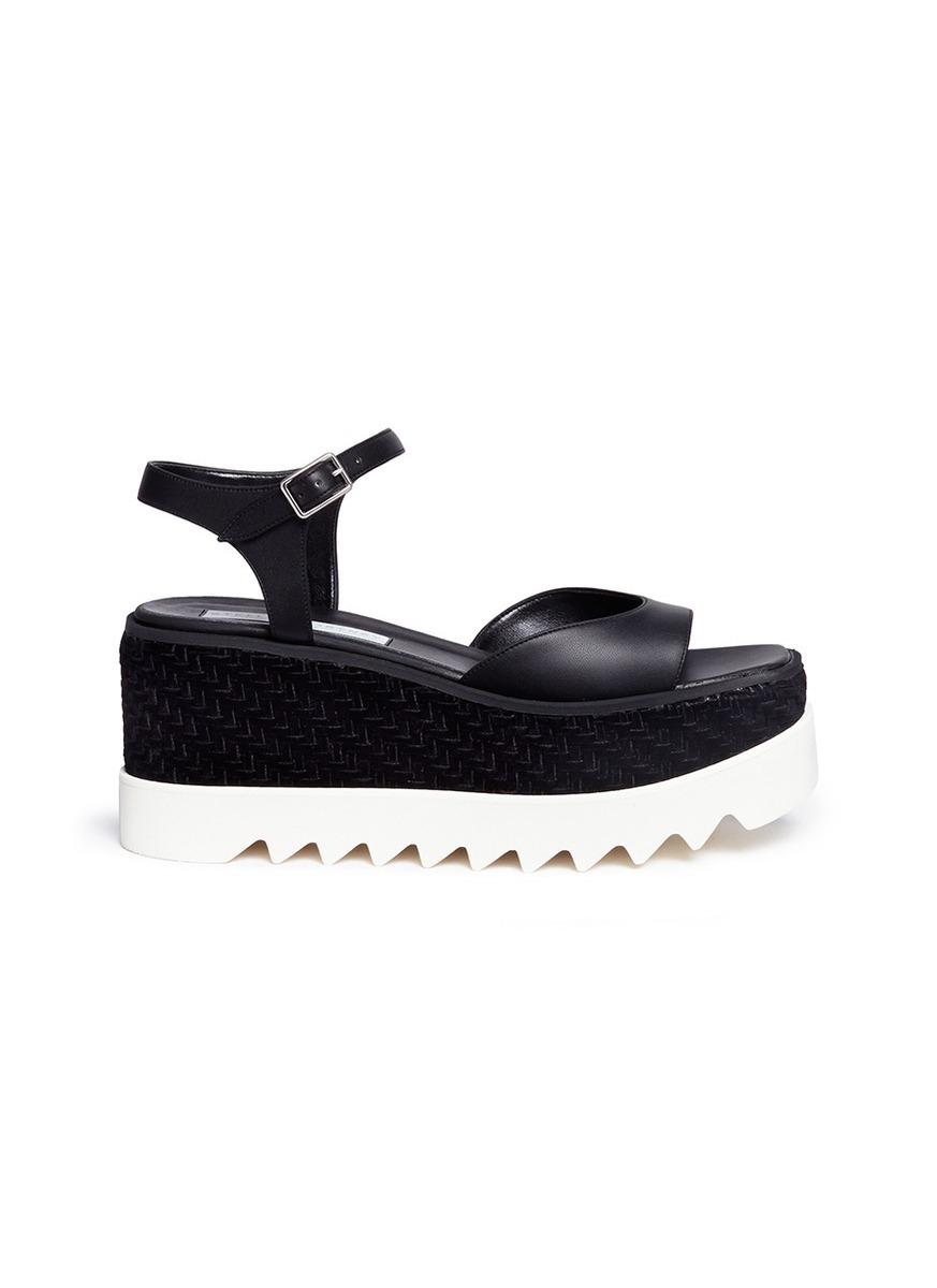 Elyse woven velvet platform sandals by Stella McCartney