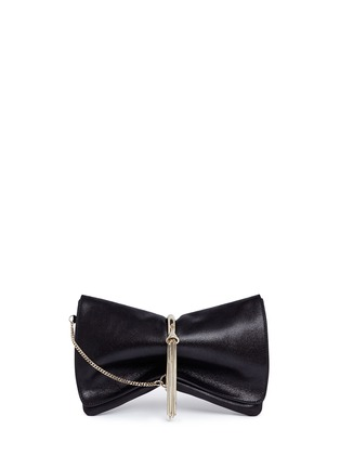 Main View - Click To Enlarge - JIMMY CHOO - 'Charley' metal ring metallic leather clutch