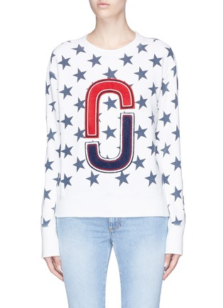 Main View - Click To Enlarge - MARC JACOBS - Double J logo patch star print sweatshirt