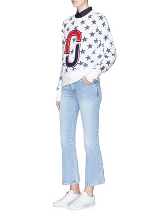 Figure View - Click To Enlarge - MARC JACOBS - Double J logo patch star print sweatshirt