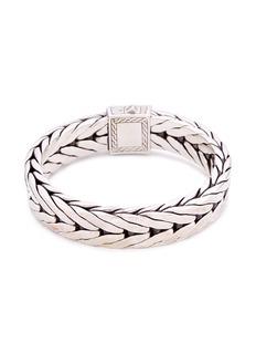 John Hardy Silver weave effect link chain bracelet