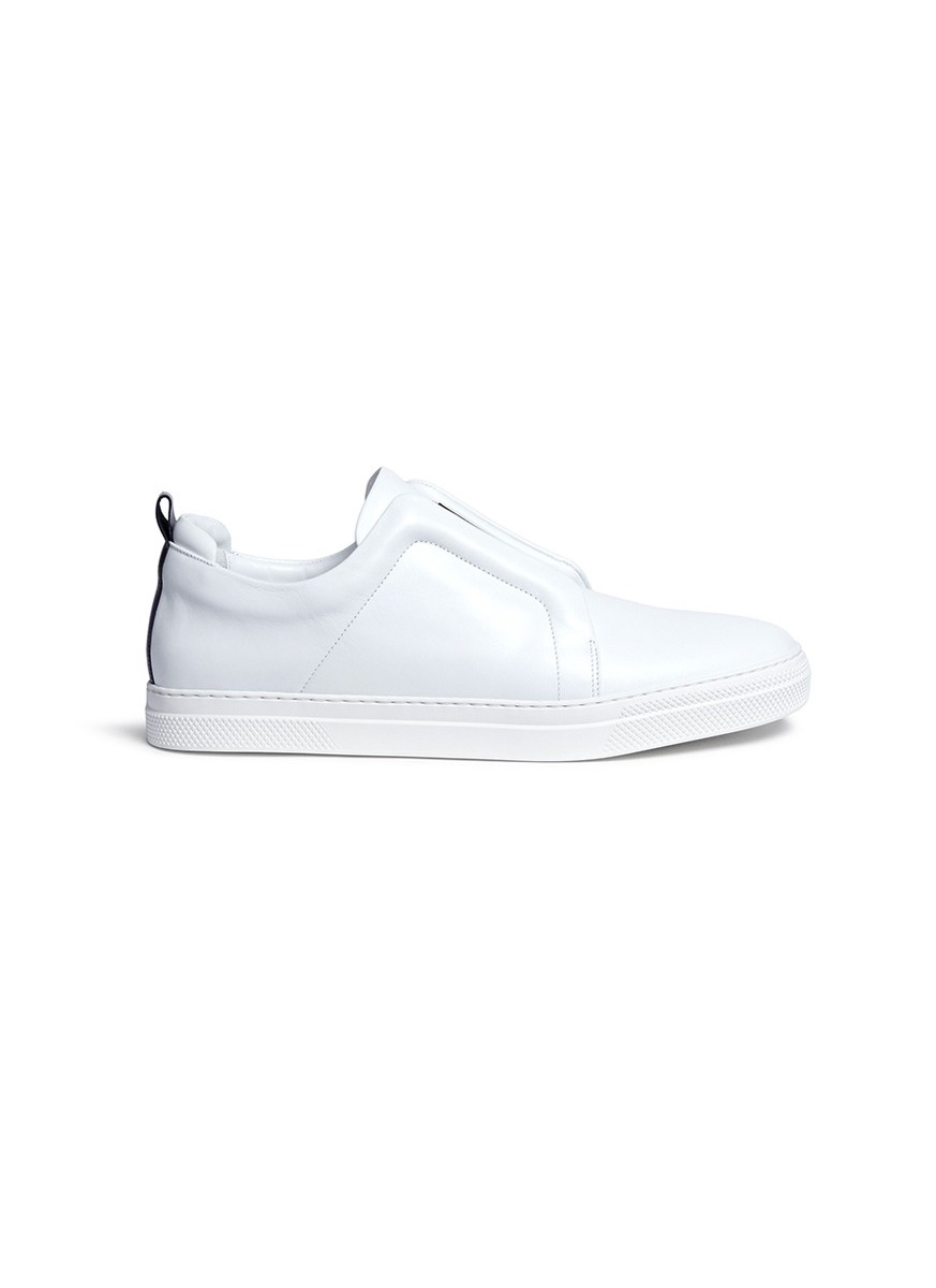 Slider elastic band leather sneakers by Pierre Hardy