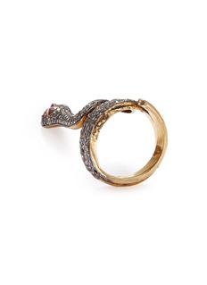 Aishwarya Diamond ruby gold alloy snake ring