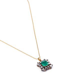 Aishwarya Diamond emerald gold alloy pendant necklace