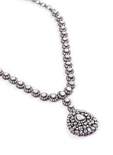 Aishwarya Diamond gold alloy teardrop pendant necklace