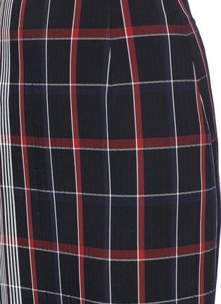 Detail View - Click To Enlarge - VICTORIA BECKHAM - Stripe check plaid pencil skirt