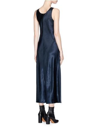 Back View - Click To Enlarge - VINCE - Satin sleeveless dress