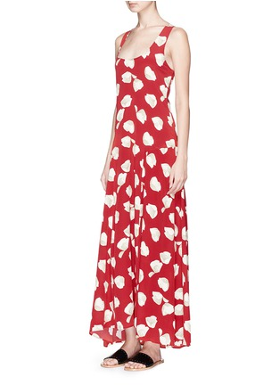 Front View - Click To Enlarge - THEORY - 'Palushaj' tie back harper print crepe maxi dress