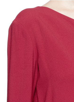 Detail View - Click To Enlarge - THEORY - 'Sintsi' asymmetric one-shoulder crepe dress