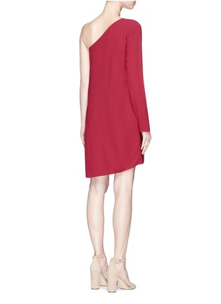 Back View - Click To Enlarge - THEORY - 'Sintsi' asymmetric one-shoulder crepe dress