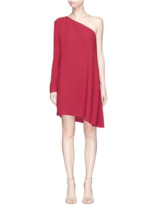 Main View - Click To Enlarge - THEORY - 'Sintsi' asymmetric one-shoulder crepe dress