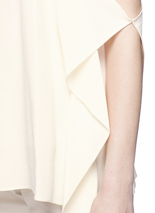 Detail View - Click To Enlarge - THEORY - 'Petteri' drape crepe top