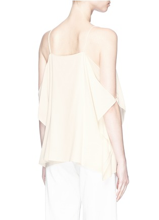 Back View - Click To Enlarge - THEORY - 'Petteri' drape crepe top