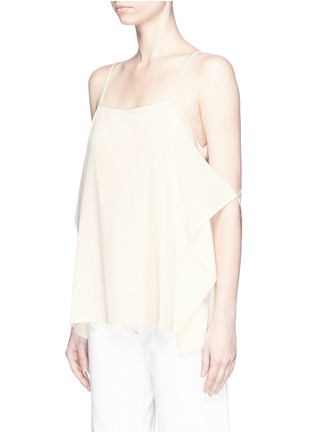 Front View - Click To Enlarge - THEORY - 'Petteri' drape crepe top