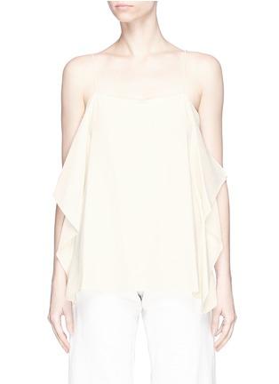 Main View - Click To Enlarge - THEORY - 'Petteri' drape crepe top