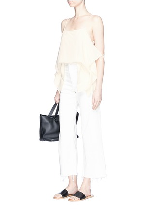 Figure View - Click To Enlarge - THEORY - 'Petteri' drape crepe top
