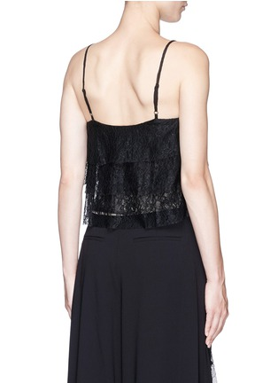 Back View - Click To Enlarge - ALICE + OLIVIA - 'Vannessa' tiered floral guipure lace camisole