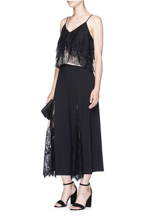 Figure View - Click To Enlarge - ALICE + OLIVIA - 'Vannessa' tiered floral guipure lace camisole