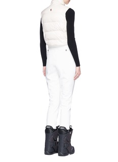 Moncler Grenoble Twill pants quilted down puffer jumpsuit