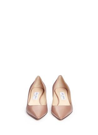 Front View - Click To Enlarge - Jimmy Choo - 'Romy 40' kid leather pumps