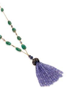Aishwarya Diamond gemstone gold alloy necklace