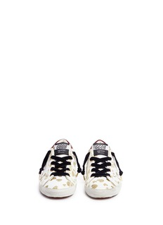 Golden Goose 'Superstar' glitter heart leather kids sneakers