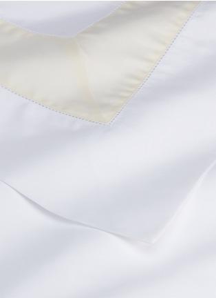 Detail View - Click To Enlarge - FRETTE - Bicolore queen size duvet set –White/Beige