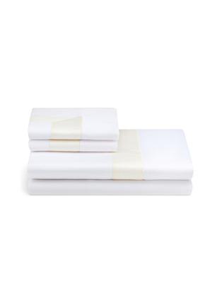 Main View - Click To Enlarge - FRETTE - Bicolore queen size duvet set –White/Beige