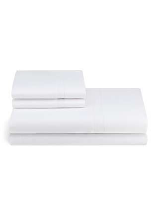 Main View - Click To Enlarge - FRETTE - Doppio Ajour king size duvet set – White