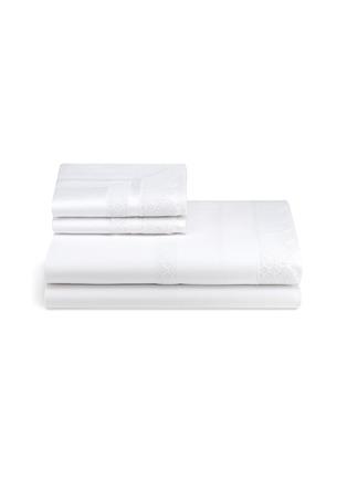 Main View - Click To Enlarge - FRETTE - Macramé Lace queen size duvet set – White