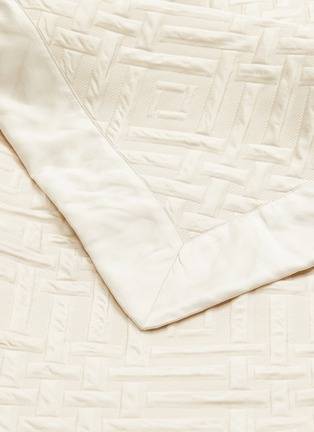 Detail View - Click To Enlarge - FRETTE - Platinum king size bedcover – Ivory