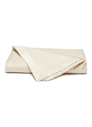 Main View - Click To Enlarge - FRETTE - Platinum king size bedcover – Ivory
