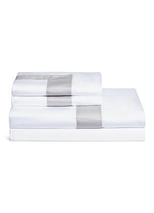Main View - Click To Enlarge - FRETTE - Bicolore king size duvet set