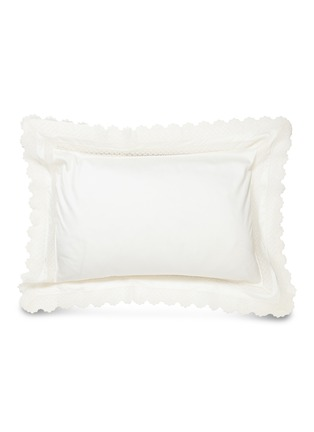 Main View - Click To Enlarge - FRETTE - Macrame Pizzo standard sham – Ivory