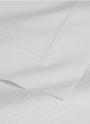 Detail View - Click To Enlarge - FRETTE - Illusione queen size duvet set –White