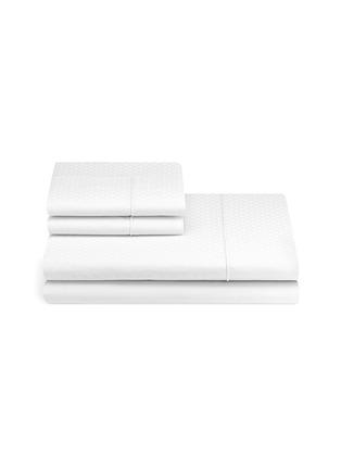 Main View - Click To Enlarge - FRETTE - Illusione queen size duvet set –White