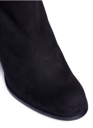 Detail View - Click To Enlarge - Stuart Weitzman - 'Alljack' stretch suede knee high boots