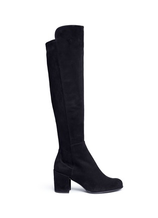 Main View - Click To Enlarge - Stuart Weitzman - 'Alljack' stretch suede knee high boots