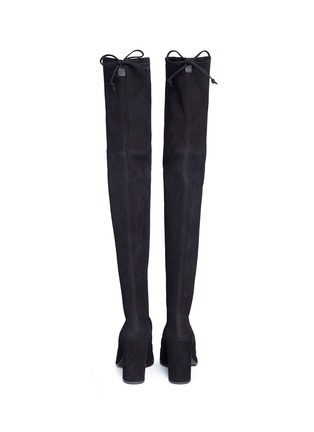 Back View - Click To Enlarge - Stuart Weitzman - 'Hiline' stretch suede thigh high boots