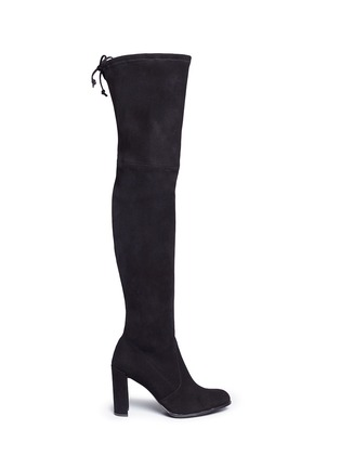 Main View - Click To Enlarge - Stuart Weitzman - 'Hiline' stretch suede thigh high boots