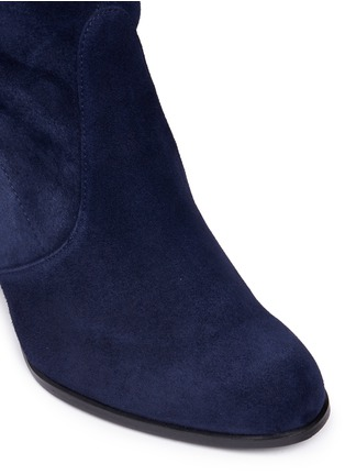 Detail View - Click To Enlarge - Stuart Weitzman - 'Hi Line' stretch suede thigh high boots