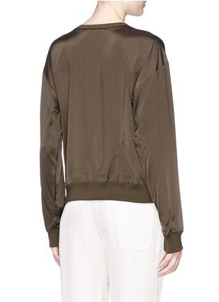 Back View - Click To Enlarge - Theory - 'Massar' silk satin sweatshirt