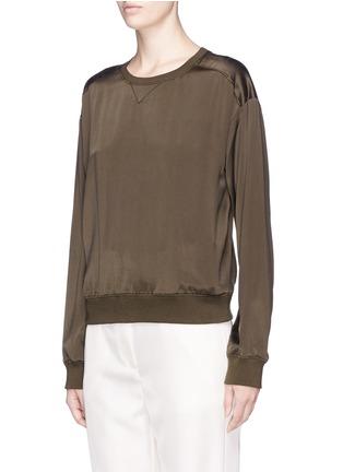 Front View - Click To Enlarge - Theory - 'Massar' silk satin sweatshirt