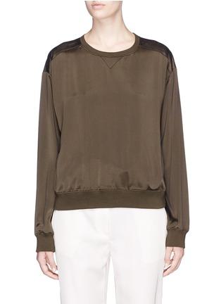 Main View - Click To Enlarge - Theory - 'Massar' silk satin sweatshirt