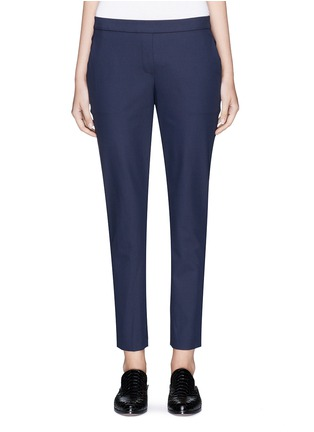 Main View - Click To Enlarge - Theory - 'Thaniel' cropped twill pants