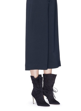 Figure View - Click To Enlarge - Alexander White - 'Camille' serrated cuff suede boots