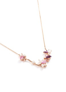 Anyallerie 'Bumble Bee' diamond gemstone 18k rose gold necklace