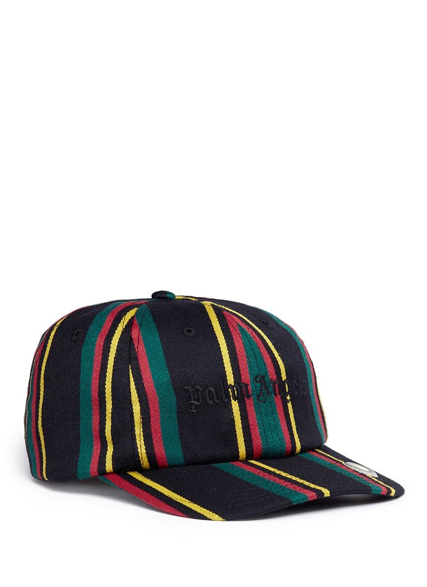 e18b0b38097 Palm Angels  Rastafari  Regimental Stripe Baseball Cap